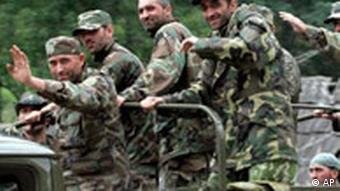 Georgian soldiers in Abkhazia