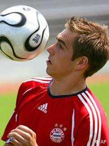 Lahm in training with Bayern
