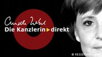 The logo of Merkel's podcast