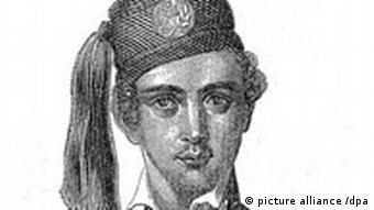 Zeitgenössisches Porträt von König Otto von Griechenland (1815-1867). Kalenderblatt