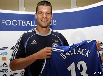 The change from red shirt to blue shirt is not the only thing Ballack has to get used to