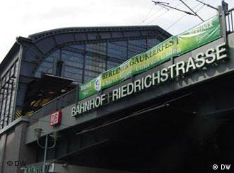The Friedrichstrasse train station