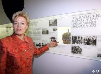 Steinbach at an expellee exhibit