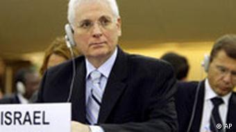 UN Menschenrechtsrat in Genf Botschafter Israel Itzhak Levanon