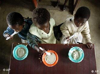 Three orphans in Malawi
