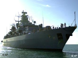 The German Navy's largest frigate, the Bayern, will lead the Bundesmarine mission