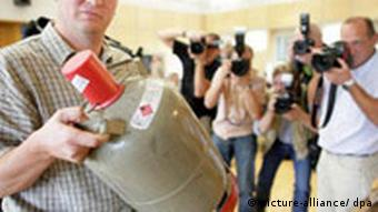 Bombe in Koffer deponiert