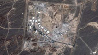 Satellite picture of an Iranian nuclear plant