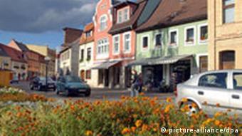 Straße in Kleinstadt