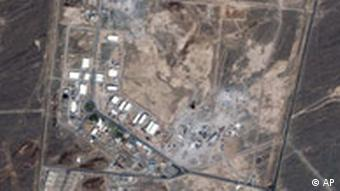 This Aug. 12, 2006 IKONOS satellite image provided by GeoEye on Tuesday, Aug. 22, 2006 purports to show the Natanz nuclear facility in Iran. Iran's unprecedented refusal to allow access to its underground facility at Natanz could seriously hamper U.N. attempts to ensure Tehran is not trying to produce nuclear weapons, and might violate the Nuclear Nonproliferation Treaty, diplomats and U.N. officials told The Associated Press. (AP Photo/IKONOS satellite image ourtesy of GeoEye/WIA) ** MANDATORY CREDIT **