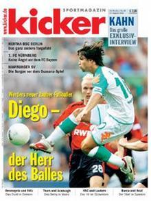 Titelseite von kicker-sportmagazin