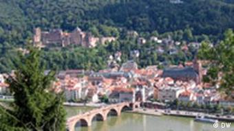 Panorama of city with a bridge over a river