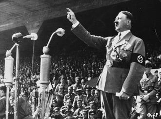 Adolf Hitler giving a speech