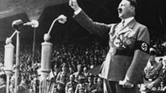 Hitler giving a speech