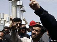 محمود احمدینژاد، در تاسیسات هستهای اراک