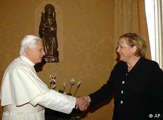Observers say the chemistry's right between Merkel and Pope Benedict