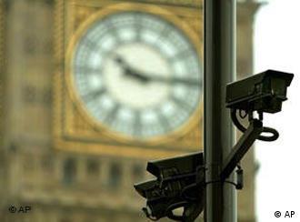 A CCTV camera in the UK