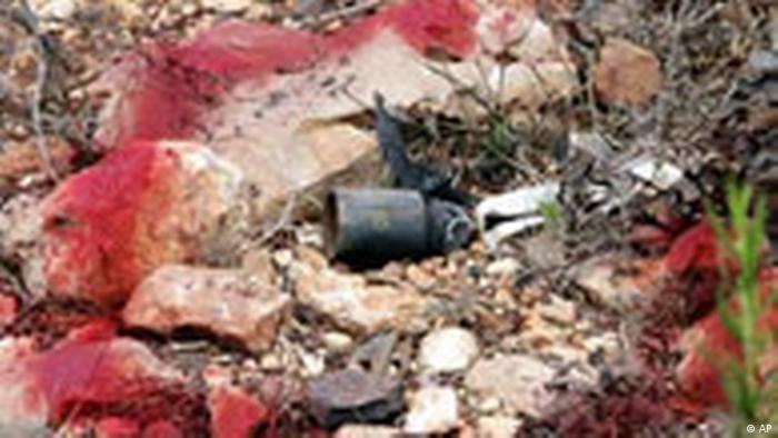 Israel Libanon Munition Vorsicht Streubombe