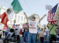 Manifestación en San Francisco a favor de la legalización de los latinos