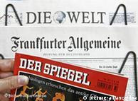 The German press: Die Welt, the FAZ and Der Spiegel