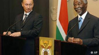 Putin in Südafrika (AP)