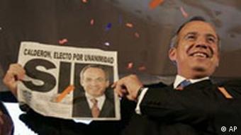 Felipe Calderon wird Präsident