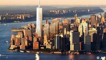 In this computer generated rendering released by the Lower Manhattan Development Corporation Wednesday, June 29, 2005, the redesigned Freedom Tower by architect Skidmore, Owings & Merrill LLP rises above the lower Manhattan skyline, as seen from New York Harbor. Rendering created by dbox. (AP Photo/dbox)