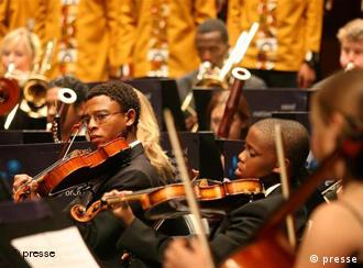 The South African National Youth Orchestra was sponsored by Deutsche Welle