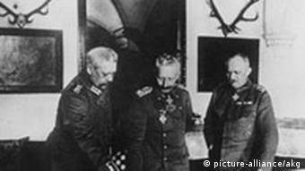 Wilhelm II mit der Heeresleitung, 1916, Kalenderblatt