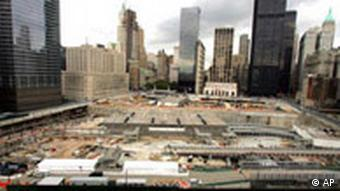 11. September Fünf-Jahresgedenken in den USA Bush in New York Ground Zero