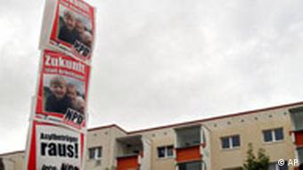 Pictures of NPD posters in Rostock in Mecklenburg-Vorpommern in 2006