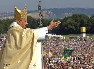 Pope Benedict XVI during Mass at Islinger Field, near Regensburg