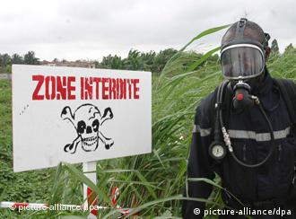 Giftiges Grün - an einer der Abladestellen des Giftmülls in Abidjan