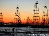 Pozos de petróleo en Asia.