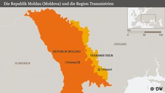 Die Republik Moldau (Moldova) und die Region Transnistrien