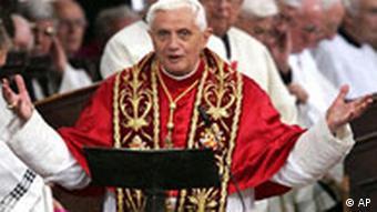 Papst Benedikt XVI. bei seiner Rede in Regensburg