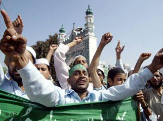Muslim protestors in Jammu, India, rallied against the pope's comments