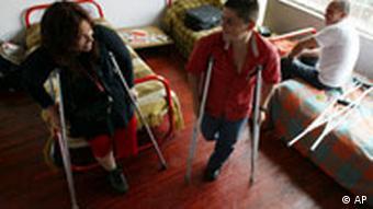 Opfer von Landminen in Kolumbien