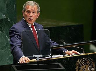 US-Präsident Bush bei einer seiner seltenen Ansprachen vor der von ihm wenig geschätzten UNO