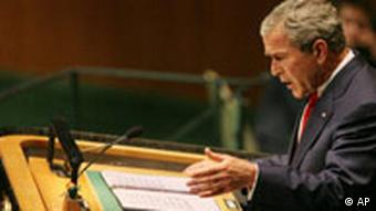 UN Generalversammlung in New York USA George Bush