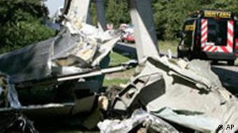 Transrapid Unfall in Emsland Trümmerteile