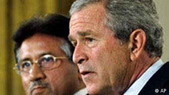 USA Pakistan George W. Bush und Pervez Musharraf in Washington
