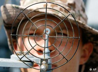 On the lookout: A German soldier in Djibouti