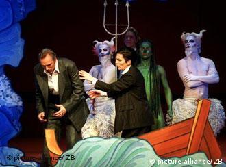 Opera singers rehearse Hans Neuenfels production of Mozart's Idomeneo