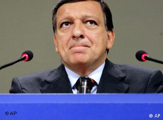 Commission President Barroso finds himself between a rock and a hard place -- again