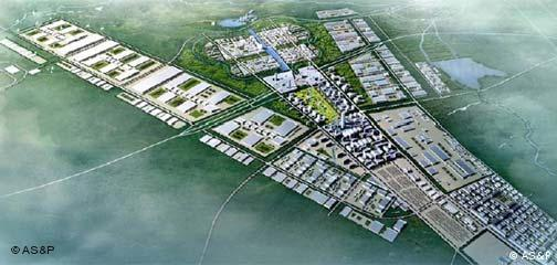 AS&P Skizze der Changchun Automotive Industry Development Area
