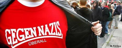 Manifestación anti-nazi en Berlín: Contra los nazis, en todas partes.