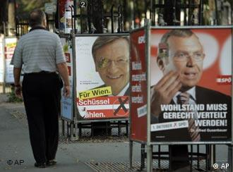 picture of Social Democrat leader Alfred Gusenbauer's election poster