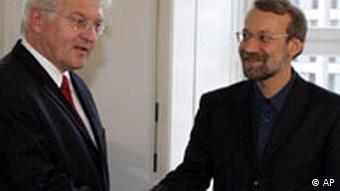 Iran Atom Frank-Walter Steinmeier und Ali Larijani in Berlin