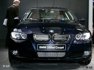 BMW черного цвета